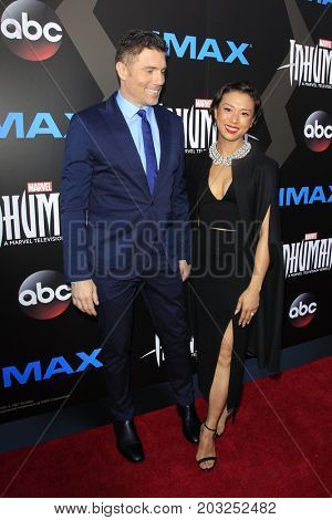 LOS ANGELES - AUG 28:  Anson Mount, Darah Trang at the ABC and Marvel's
