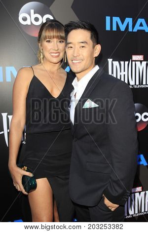 LOS ANGELES - AUG 28:  Mike Moh, Richelle Moh at the ABC and Marvel's