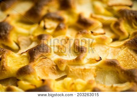 Organic Apple Pie Dessert Ready to Eat, Delicious Fresh Baked Rustic Apple Pie, French Apple Pie Tart