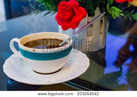 Black coffee drink when feeling drowsy or tired.