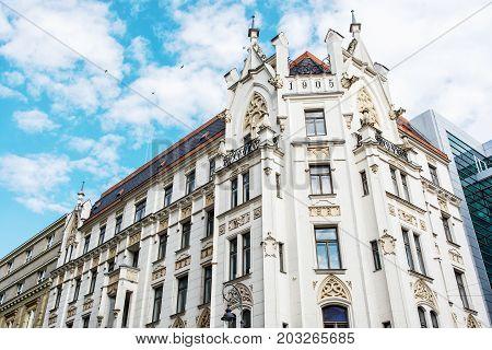 Historic building in the center of Brno Moravia Czech republic. Architectural scene. Travel destination.