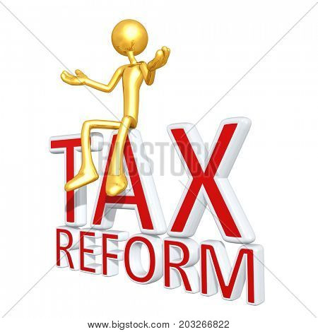Tax Reform The Original 3D Character Illustration