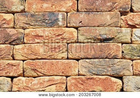 Colorfull Old Vintage Luxury Ceramic Clinker BrickTextured Wall Background