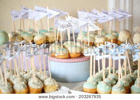 Cake Pops Arrangement On A Table