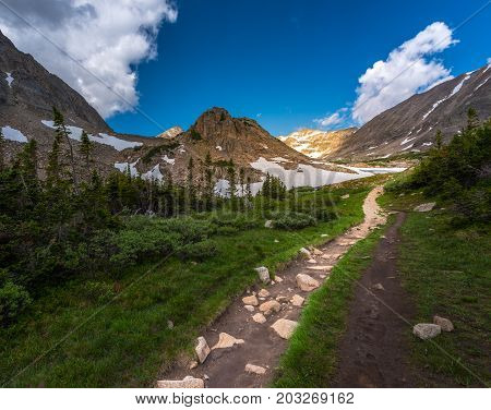 Trail Towards Mt Tool And The Blue Lake