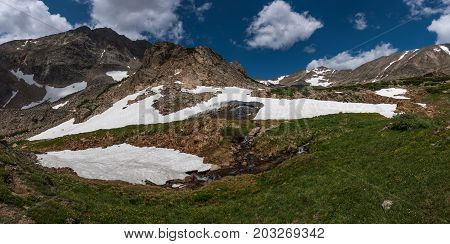 Mt Toll Trail Blue Lake Colorado Panorama