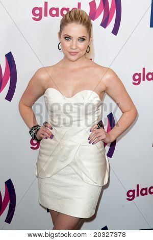 LOS ANGELES - APR 10: Ashley Benson arrives at the 22nd annual GLAAD Media Awards at Westin Bonaventure Hotel on April 10, 2011 in Los Angeles, CA.