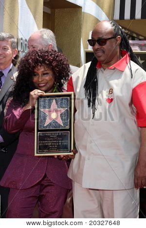 LOS ANGELES - MAY 19:  Chaka Kahn, Stevie Wonder at the Chaka Kahn Hollywood Walk of Fame Star Ceremony at Hollywood Blvd on May 19, 2011 in Los Angeles, CA.