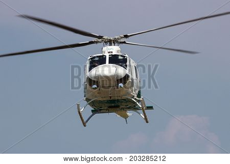 Bell 412 Helicopter Flying