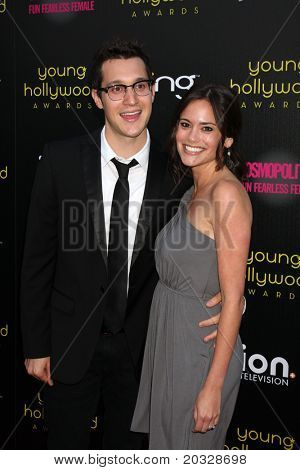 LOS ANGELES - MAY 20:  Dan Levy, Rachel Specter arriving at the 2011 Young Hollywood Awards at Club Nokia at LA Live on May 20, 2011 in Los Angeles, CA