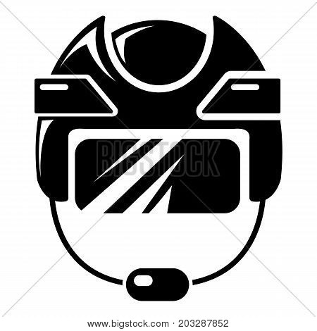 Hockey helmet icon . Simple illustration of hockey helmet vector icon for web design isolated on white background