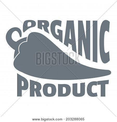 Organic bio product logo. Simple illustration of organic bio product vector logo for web design isolated on white background
