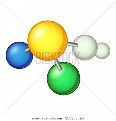 Biology molecule icon. Cartoon illustration of biology molecule vector icon for web
