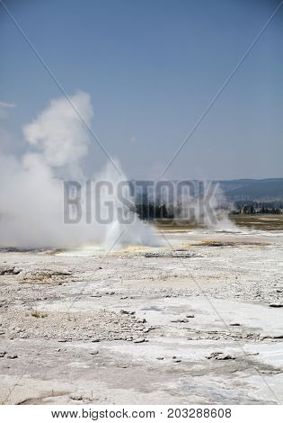 Yellowstone National Park in summer