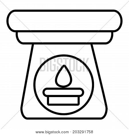 Spa aroma bottle icon. Outline illustration of spa aroma bottle vector icon for web design isolated on white background