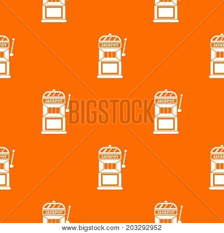 Gamble machine pattern repeat seamless in orange color for any design. Vector geometric illustration