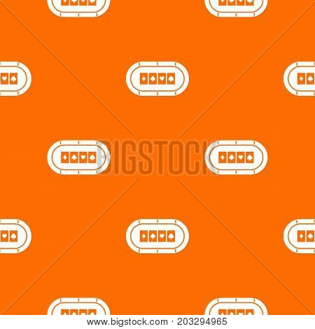 Poker table pattern repeat seamless in orange color for any design. Vector geometric illustration