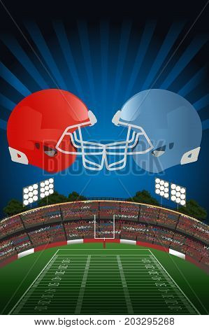A vector illustration of American Football Poster