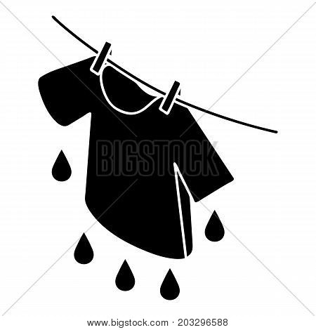 Shirt drying icon. Simple illustration of shirt drying vector icon for web design isolated on white background