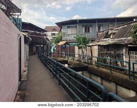 Walking Stree Canal in Bangkok city Thailand
