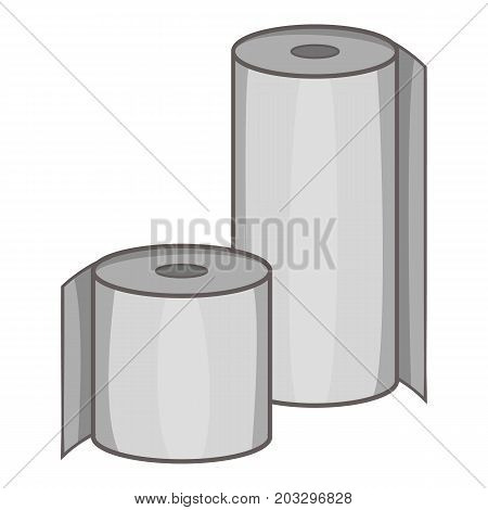 Toilet paper icon. Cartoon illustration of toilet paper vector icon for web