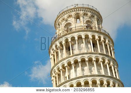 The leaning tower of Pisa, a symbol of Italy