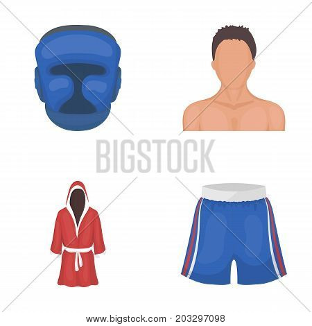 Boxing, sport, mask, helmet .Boxing set collection icons in cartoon style vector symbol stock illustration .