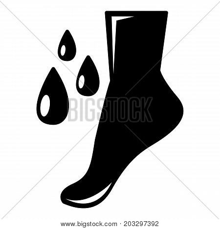 Foot care icon . Simple illustration of foot care vector icon for web design isolated on white background