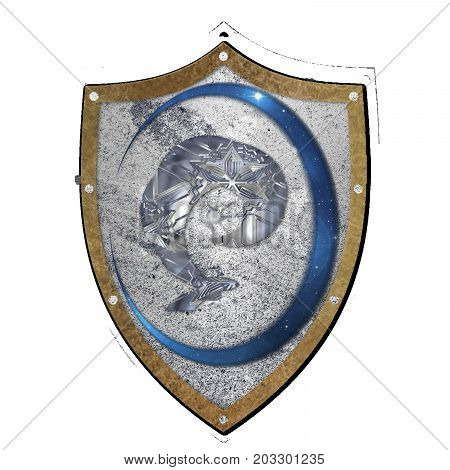 Stone shield for a logo,clan emblem or gaming team design or a background