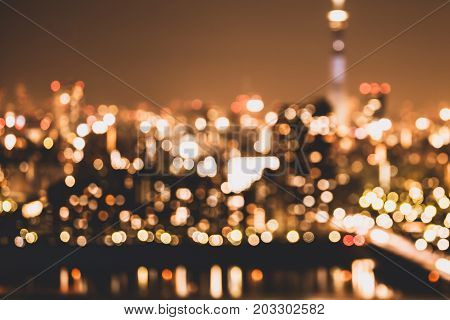 Blur City Light Background Abstract