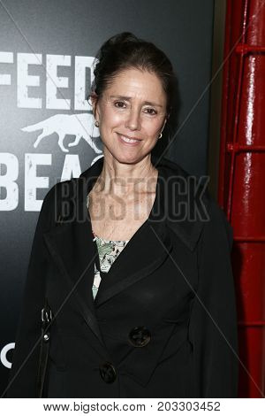 NEW YORK - MAY 23: Julie Taymor attends the AMC's 'Feed The Beast' premiere on May 23, 2016 in New York City.