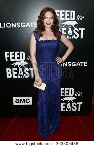 NEW YORK - MAY 23: Erin Cummings attends the AMC's 'Feed The Beast' premiere on May 23, 2016 in New York City.