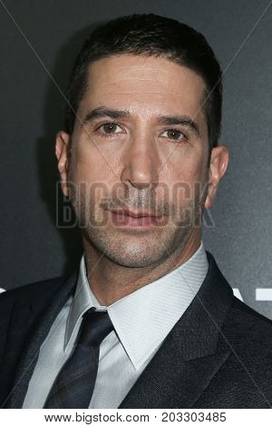 NEW YORK - MAY 23: David Schwimmer attends the AMC's 'Feed The Beast' premiere on May 23, 2016 in New York City.