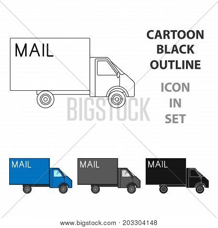 Mail machine.Mail and postman single icon in cartoon style vector symbol stock illustration .