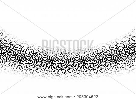 Background with abstract memphis line pattern gradient ornament