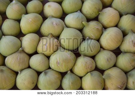 yellow lop figs. It is a very sweet fruit grown in turkey.