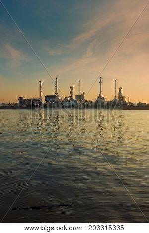 Bangchak Petroleum's Oil Refinery, Phra Khanong District, Bangkok, Thailand