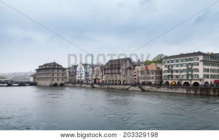 Skyline Of Zurich - The Largest City In Switzerland