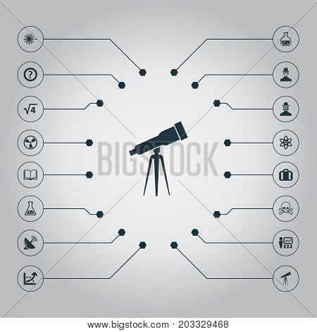 Elements Burst, Briefcase, Pharmacology And Other Synonyms Library, Burst And Investigator.  Vector Illustration Set Of Simple Study Icons.