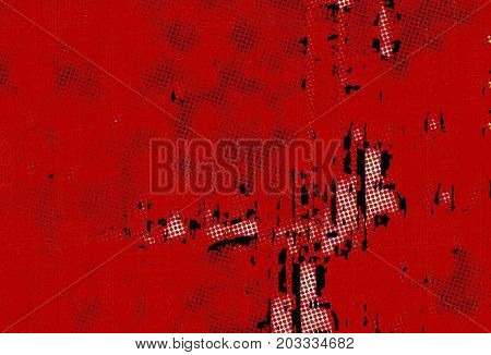 Red background halftone. Abstract grunge texture. Red vintage style. Texture for print and design of dots and spots