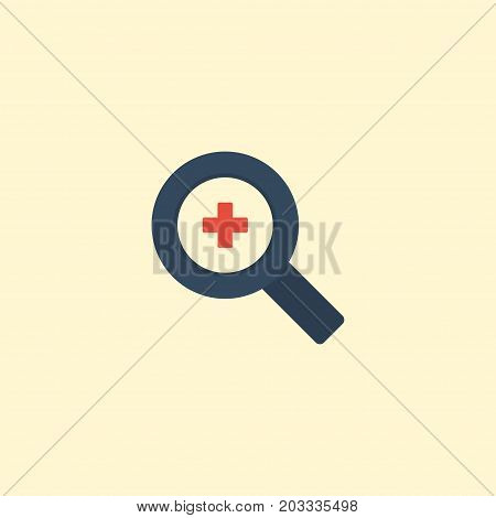 Flat Icon Zoom In Element. Vector Illustration Of Flat Icon Magnifier Isolated On Clean Background
