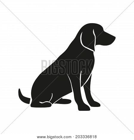 Icon of labrador induction. Dog, retriever, sitting. Veterinary clinic concept. Can be used for topics like animal treatment, pet, domestic animal, zoonosis