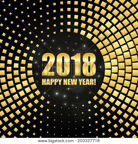 Happy New Year 2018 Abstract Golden Shimmer Background