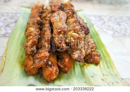 barbecued pork or Chinese barbecue with pepper