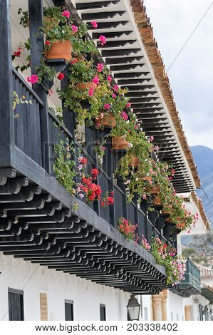 July 20 2017 Villa de Leyva Colombia: unchanged colonial architecture is a main attraction in the popular colonial town