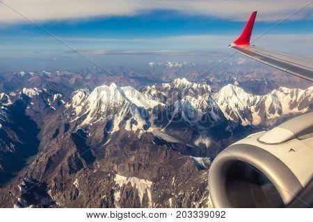 Mountain plane seen on the plane