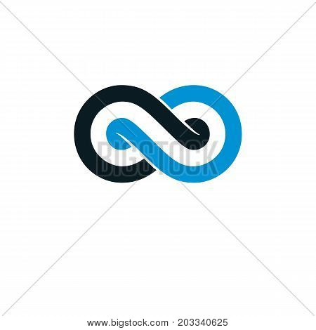 Endless Infinity Loop conceptual logo vector special sign.