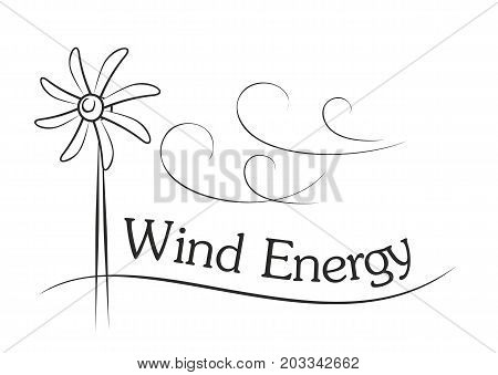 A wind generator sketch with the wind.