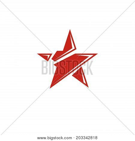 Vector star illustration as the symbol of success. Can be used as the interpretation of totalitarianism as the evil power ideological propaganda.