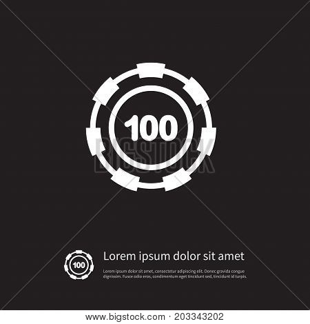 Stack Vector Element Can Be Used For Chip, Stack, Casino Design Concept.  Isolated Disk Icon.